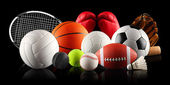 Balls in sport — Stock Photo