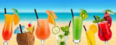 Cocktail beach — Stock Photo