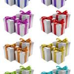 Silver present set — Stock Photo #15747227