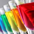 Stock Photo: Rainbow drinks