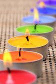 Rainbow candles — Stock Photo