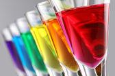 Rainbow drinks — Stock Photo