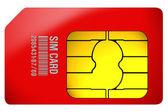 Sim card — Stockfoto