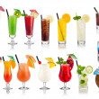 cocktail en longdrink set — Stockfoto
