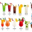 conjunto de longdrink e cocktail — Foto Stock