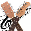 Guitar head duo — Stock Photo