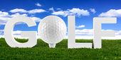Golf lettering — Stock Photo