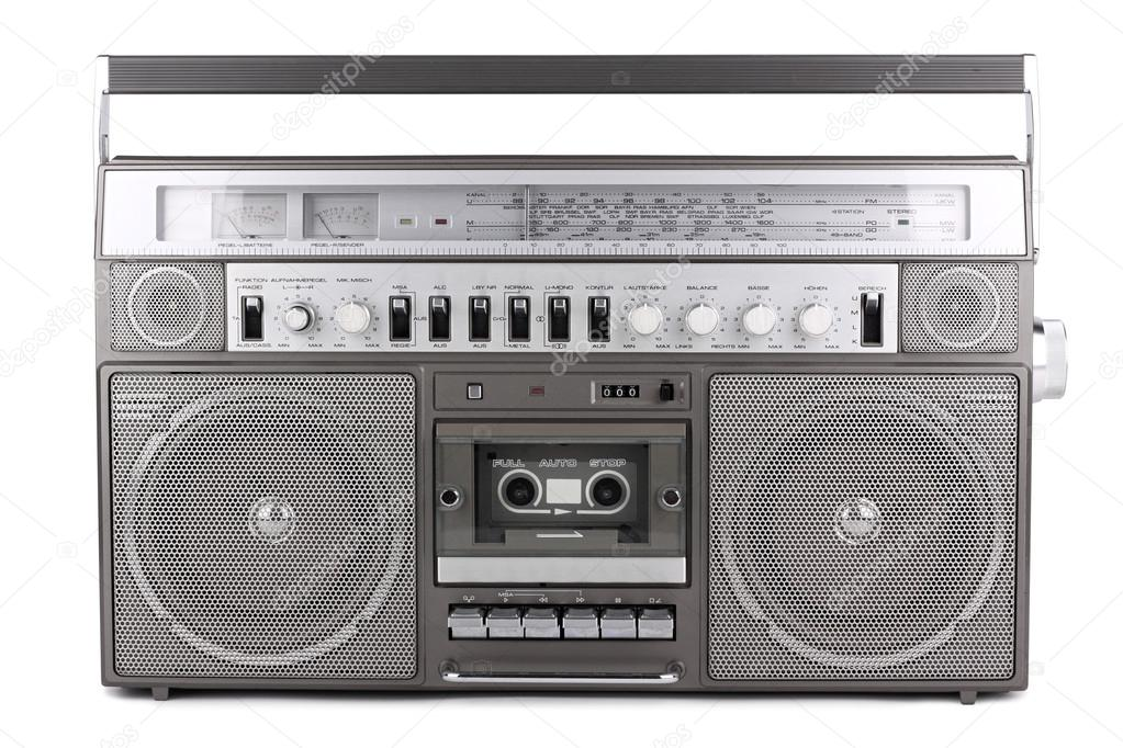 Old retro radio on white background — Stock Photo #15753775