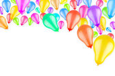 Rising colorful balloons — Stock Photo