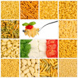Italian pasta mosaic - Stock Photo