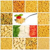 Italian pasta mosaic — Stock Photo