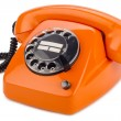 Orange retro phone — Stock Photo