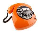 Oranje retro telefoon — Stockfoto