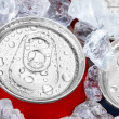 Drink cans in crushed ice — Stock Photo #24565437