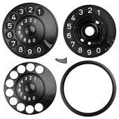 Rotary dial texture kit — Stock Photo