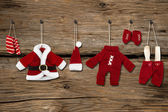 Santa Claus clothes — Stock Photo