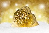 золотой рождественский подарок — Стоковое фото