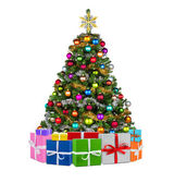 Colorfull xmas tree — Stock Photo