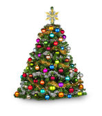 Colorfull xmas tree — Stockfoto