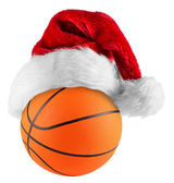 Basketball santa hat — Stock Photo