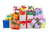 Kleurrijke geschenkdozen — Stockfoto