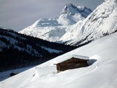 Snowy Austrian Alps — Stock Photo