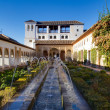 Granada - Generalife - Court of the water channel — Stock Photo