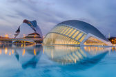 Blue hour at the City of Arts and Sciences - Valencia — Stock Photo