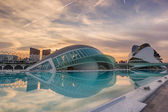 Sunset at the City of Arts and Sciences - Valencia — Stock Photo