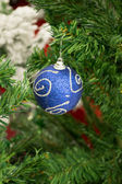 New Year Blue Decoration Ball — Stock Photo