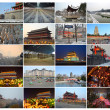 Collage of Xian and the terraccotta warriors - Stock Photo