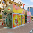 A fully enclosed climatised Bus Stop in Dubai — Stock Photo