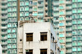Apartment Block new and old — Stock Photo