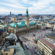 Hamburg, view of City Hall and the city panorama — Stock Photo