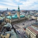 Hamburg, view of City Hall and the city panorama — Stock Photo #15602079