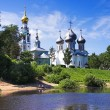 Royalty-Free Stock Photo: Churches on the shore of Vologda river
