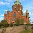 Uspenski Orthodox Cathedral in Helsinki, Finland — Stock Photo