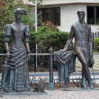 Постер, плакат: Anton Chekhov and Lady with dog Monument in Yalta