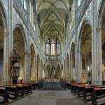 Interior of St. Vitus Cathedral in Prague — Stock Photo