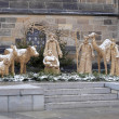 Nativity scene in Prague near the St. Vitus Cathedral — Stock Photo