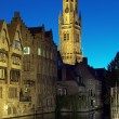 Evening view of Belfort tower in Bruges, Belgium — Stock Photo #15732391