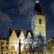 Evening view of New Town Hall in Prague — Stock Photo