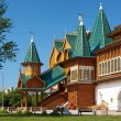 Front porch of the wooden palace of tzar Aleksey Mikhailovich — Stock Photo