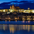 Night view on Prague Castle, Czech Republic — Stock Photo