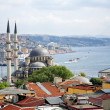 Stock Photo: View of Yeni Mosque and Bosphorus, Istanbul