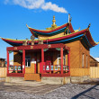 Small wooden buddhist temple — Stock fotografie #15732749