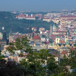View on Prague from Vitkov Hill, Czech Republic - Stock Photo
