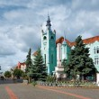 Stock Photo: Town Hall of Mukachevo, Western Ukraine