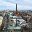 View of Hamburg and St. Jacobi church — Stock Photo