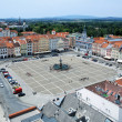 Central square of Ceske Budejovice, Czech Republic — Stock Photo